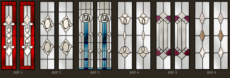 Bevel & Bevelled glass windows 1