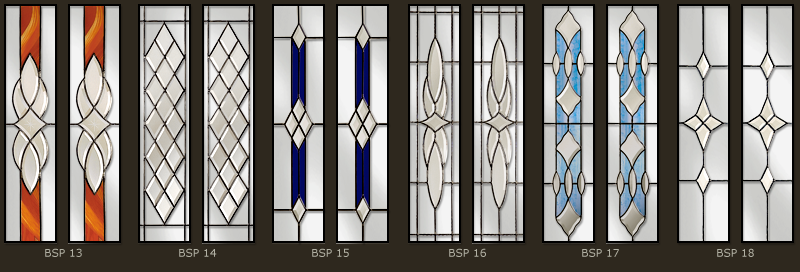 Bevel & Bevelled glass windows 3