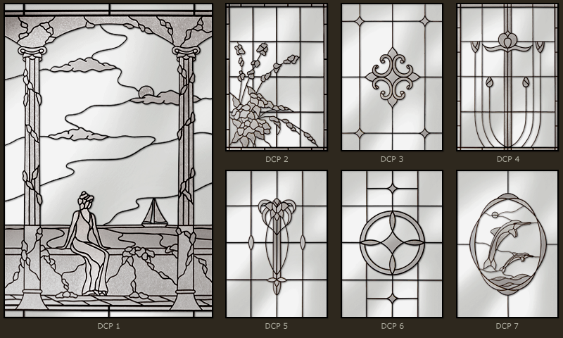 Custom design stained glass windows 1