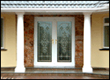 Grand bevel glass front doors
