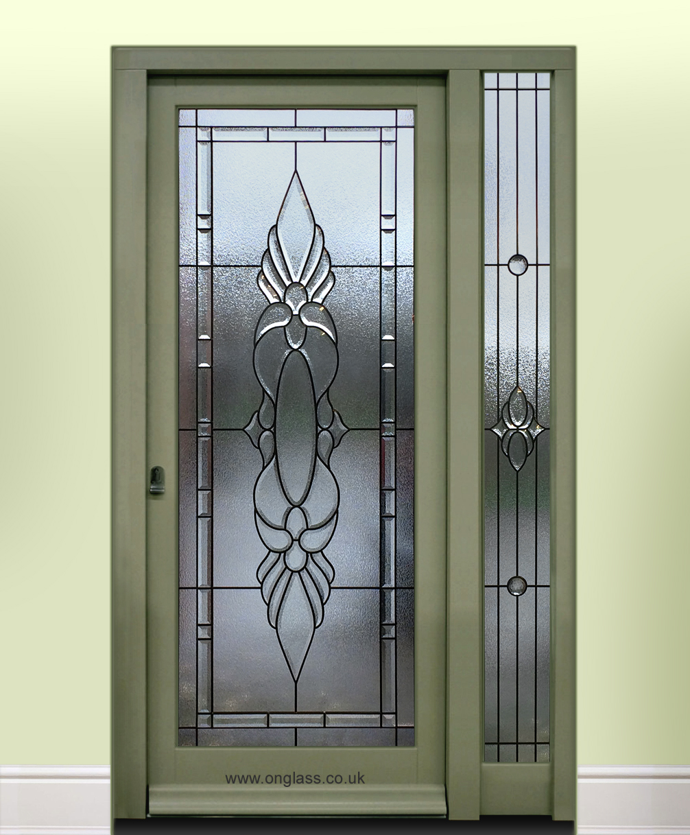 Bevel glass door