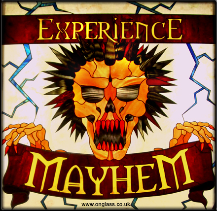 Mayhem - pop art stained glass