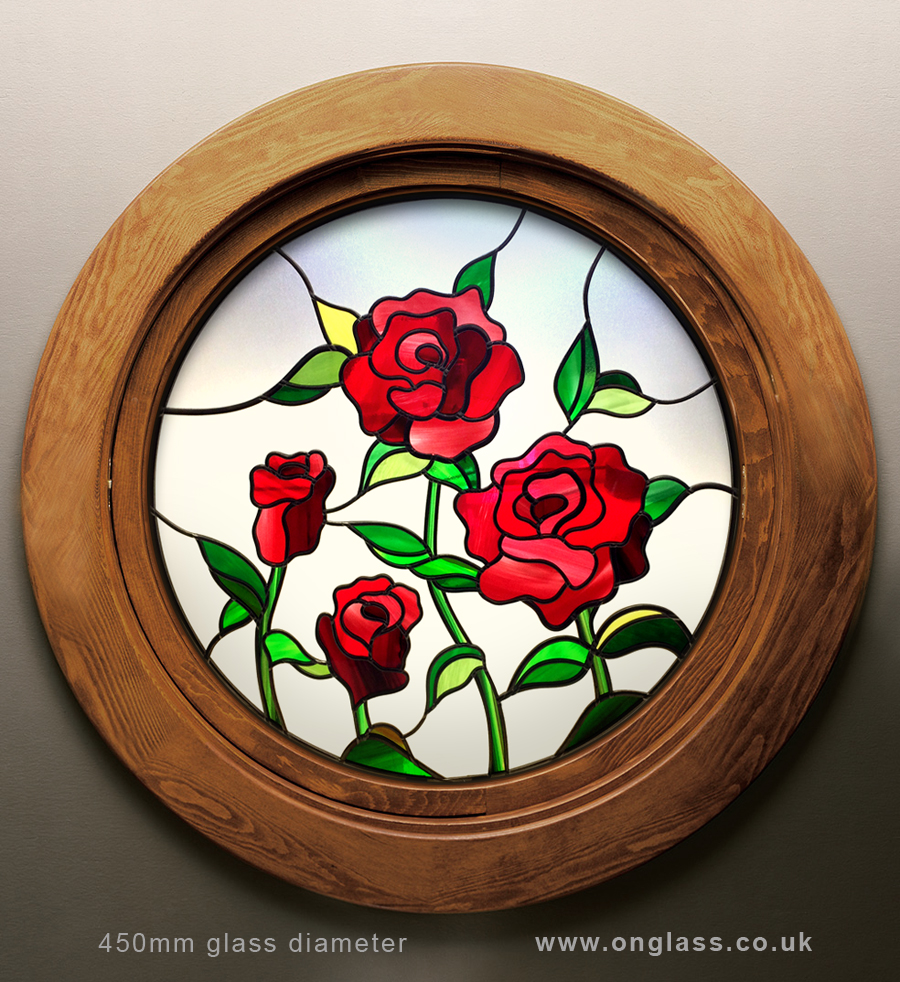 Round rose window design