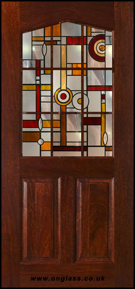 Wooden door glass