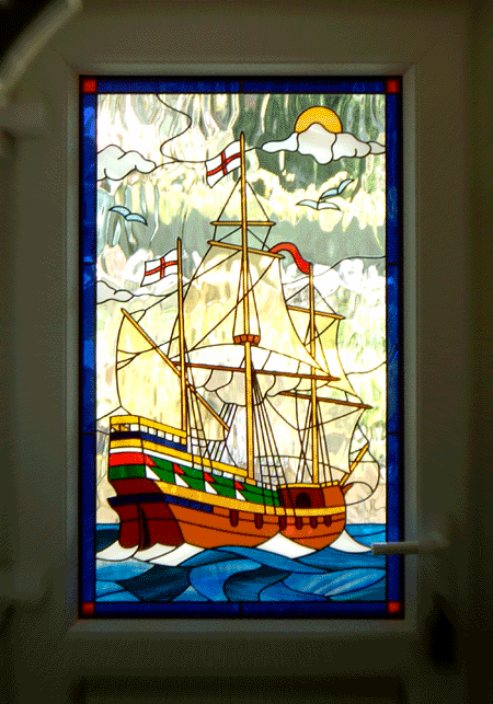 Galleon Window Flemish glass