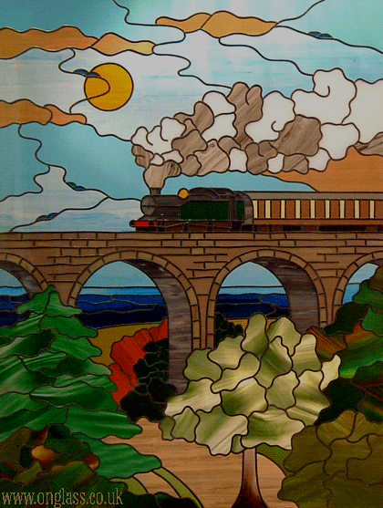 Great Western train and viaduct Broadsands Devon